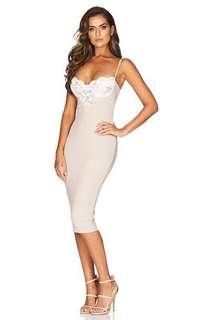 Nookie white cream Dress S/6-8