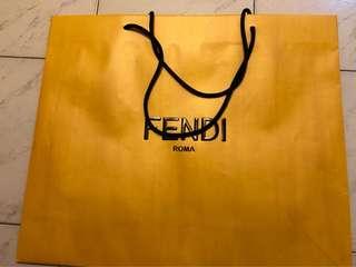 FENDI中號紙袋正品