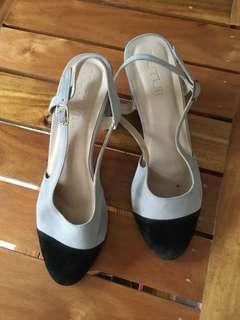 Gray Block Heels (Size 8)