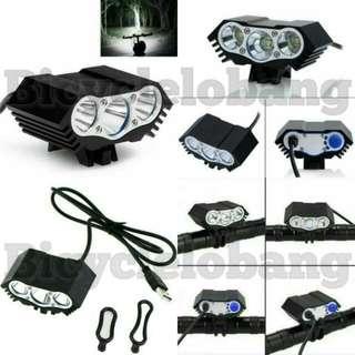3-Cree Light USB Lumen Light
