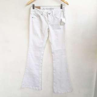 White flare regular waist
