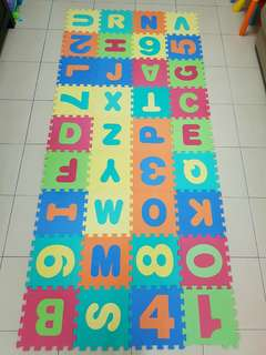 Baby playmat (ABC 36pieces) + yellow mat (4 pieces)