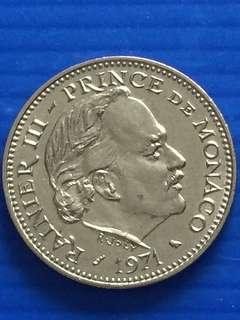 Monaco 5 Francs 1971 , UNC