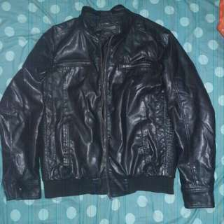 Rush: Forever 21 MEN leather jacket;  great for travels