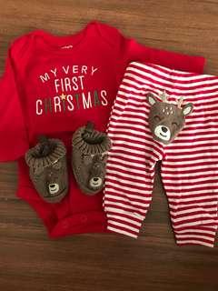 Carter's first christmas bundle newborn