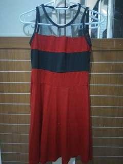 Black red dress