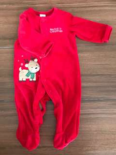 My first christmas onesies 3mos