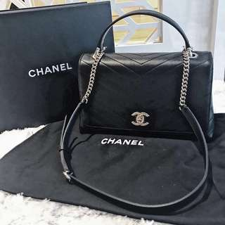 Chanel Top handle flap bag