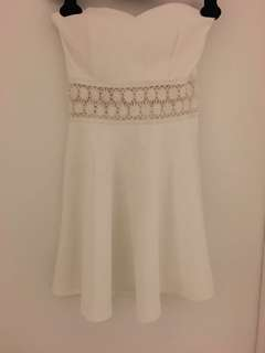 Never been worn (no tags) -White Tube Top Style Dress