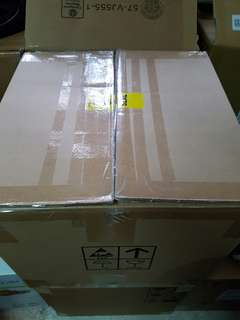 Cardboard cartons 40 cm by 40 cm by 38 cm height for moving house