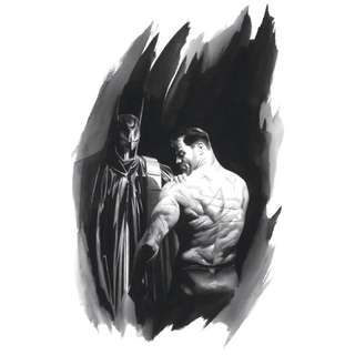 Alex Ross Batman Scars Giclee On Canvas