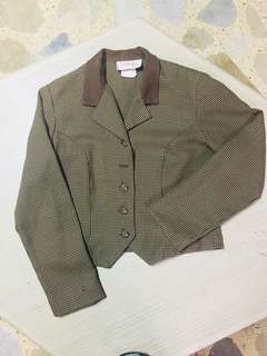 Brown formal blazer