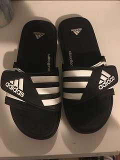 Size 8W adidas slides