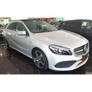 MERCEDES BENZ A250 2.0 AMG SPORT FACELIFT PANORAMIC ROOF HARMAN KARDON (A) RAYA OFFER UNREG 2016