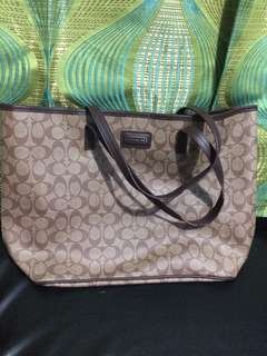 coach large tote bag pvc