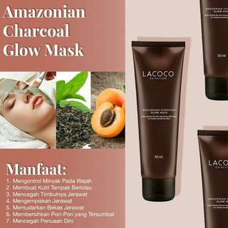 Lacoco amazonian charcoal glow mask(nasa)