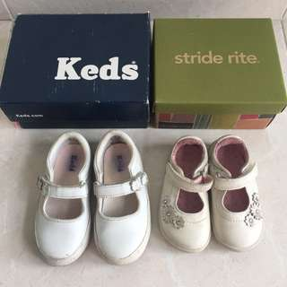 Stride Rite/ Keds White girls shoes