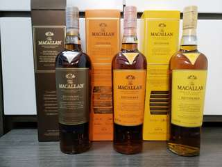 Macallan Edition no. 1, 2, 3 一套