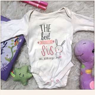 Mothercare 'Little Sis' romper 0-1m