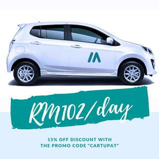 PROMOTION! Perodua Axia RM102/day
