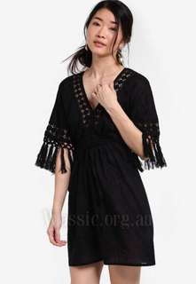 Zalora Fringed Sundress