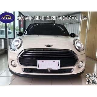 2015年 MINI   MINI COOPER  1.5  白黑色