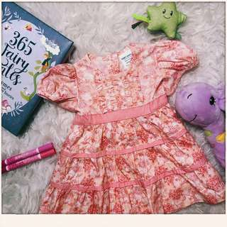 Baby Kiko pink dress size 0-6m