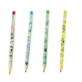 日本迪士尼 toystory 米奇米妮 維尼熊 奇奇蒂蒂 鉛芯筆