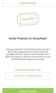 5 Free Anywheel Rides