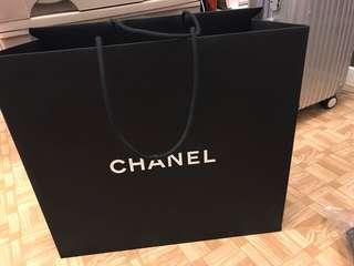 Chanel 紙袋(連花及絲帶,44x48cm)