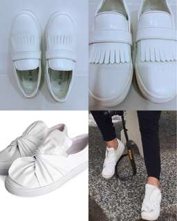 Zalora White Shoes & ACNE Studios inspired White shoes (Zalora is almost new)