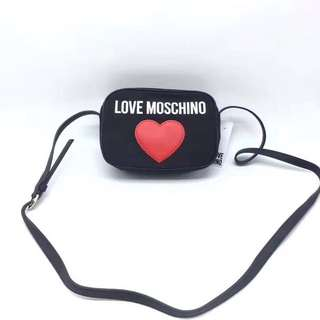 LOVE MOS 帆布拼牛皮Shoulder Bag