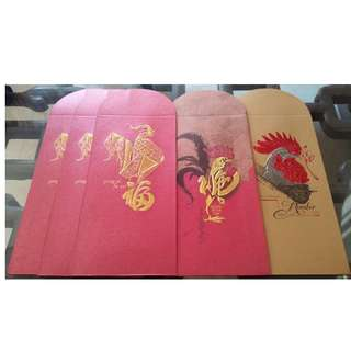 5 pcs Organic Hair Professional Year of Rooster Red Packet / Ang Bao Pow Pao Pau