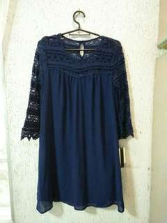 Speechless Blue Lace Dress (New)