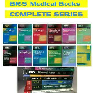 BRS Medical/Medicine Books COMPLETE SERIES MEDICAL MEDICINE MED BOOKS