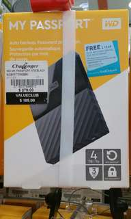 """Western Digital external hard drive 4TB HDD hard disk. My passport. 2.5"""" small and portable"""