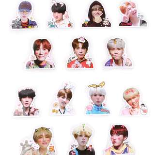BTS sticker set of 7pcs Korean boy K wave K pop Planner Journalist Diary