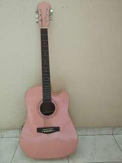 Pink Guitar String