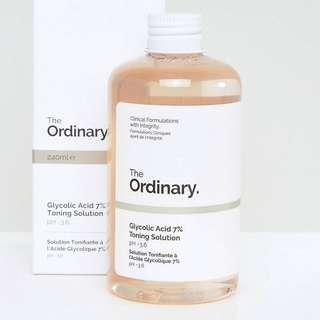 Glycolic Acid 7% Toning Solution The Ordinary