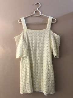 Something Borrowed Off-shoulder Shirt Dress