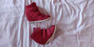 Red Sneaker Wedge Shoes