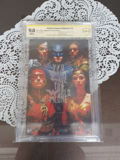Justice League Cast CBCS SS 9.8 x3