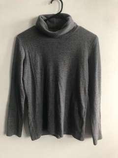 Uniqlo Turtleneck Grey Sweater
