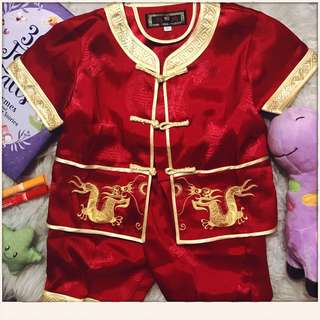 Chinese style red baby outfit size 80