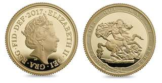 2017 Pistrucci 200th Anniversary Gold Proof Full Sovereign Coin Box Coa