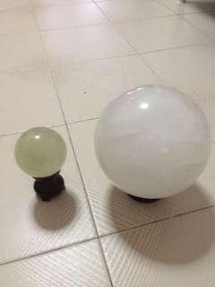Small and big crystal ball