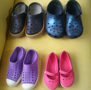 1Lot of Pre Loved Authentic Crocs & Native Shoes for Kids