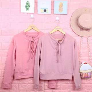 Tie knot pullover