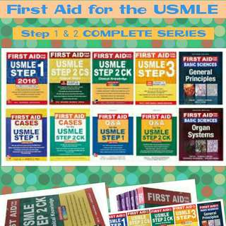 First Aid for the USMLE Step 1 & Step 2 COMPLETE SERIES MEDICAL MEDICINE MED BOOKS