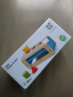 Wooden toy sorter Plan Toys